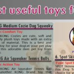 [Infographic]10 Most useful toys for dog