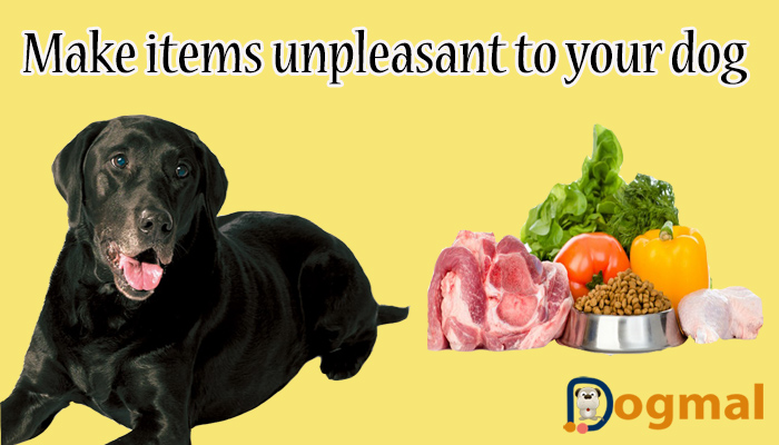 make items unpleasant to your dog