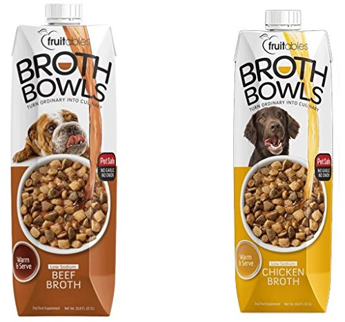 Fruitables Broth Bowls Pet Safe Natural Topper Food