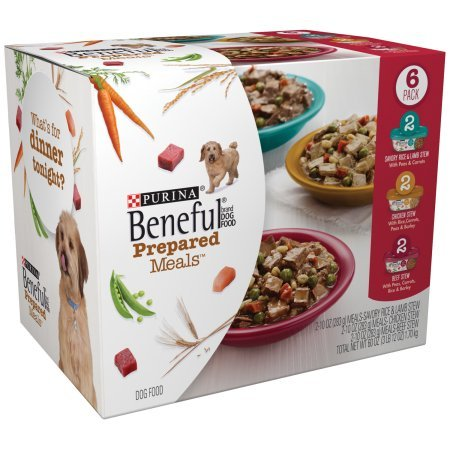 Purina Beneful Prepared Meals Variety Pack Dog Food 6-10 oz. Plastic Tubs