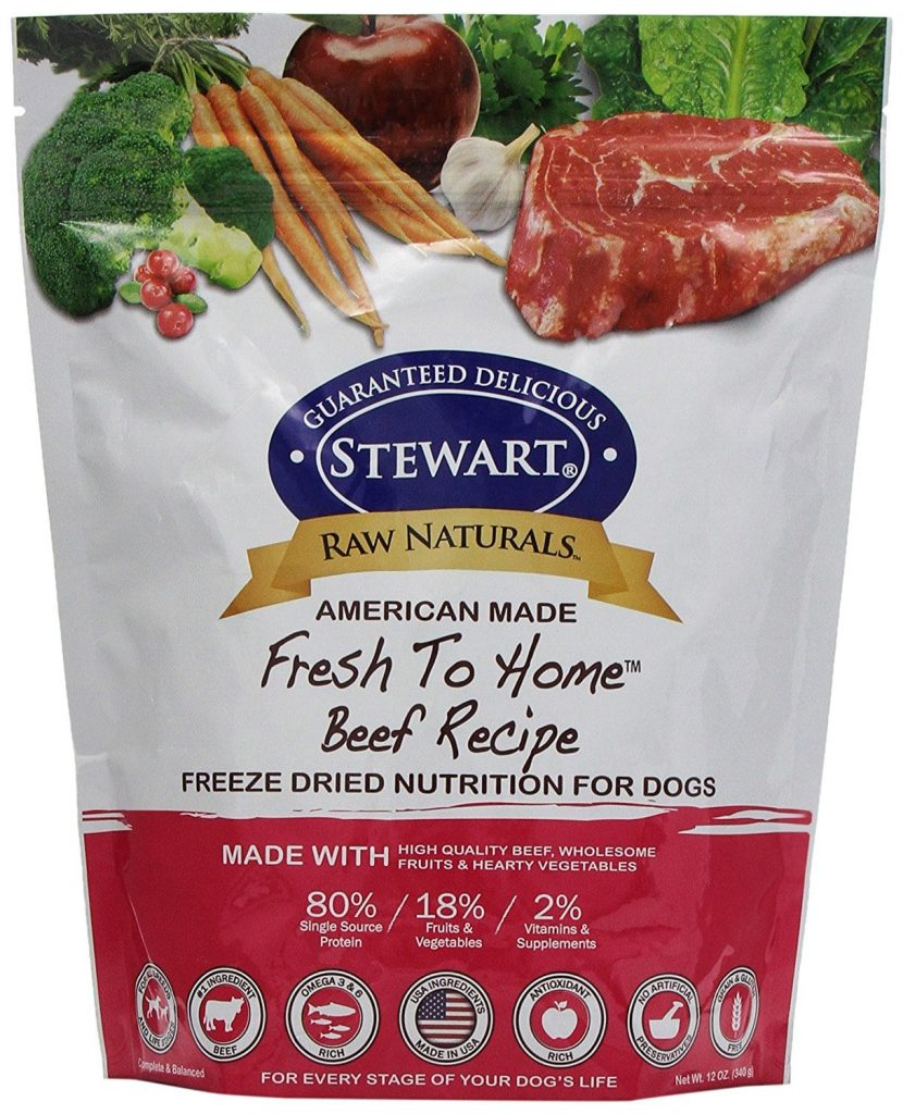 Raw Naturals by Stewart Freeze Dried Dog Food in Resealable Pouch