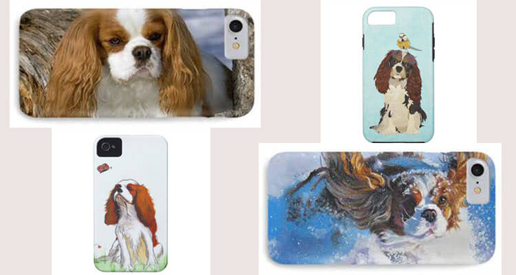 cavalier king charles spaniel puppies iphone case cover