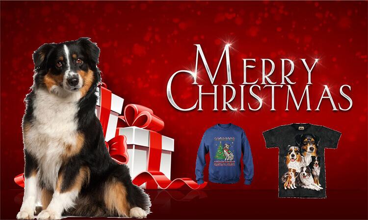 Australian shepherds T-shirts for Christmas