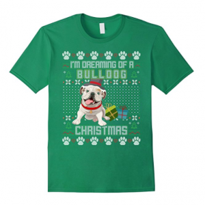 Bulldog-Christmas-Sweater-Tshirt
