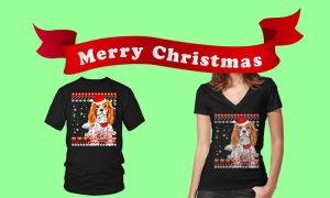 Cavalier King Charles spaniel T-shirts Christmas