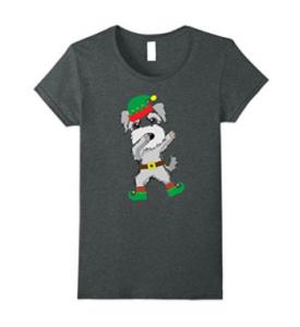Christmas-Dabbing-Miniature-Schnauzer-Elf-T-Shirt