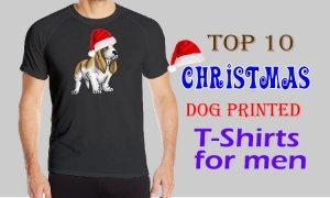 Christmas Dog printed T Shirts