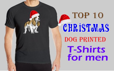 Christmas Dog printed T Shirts