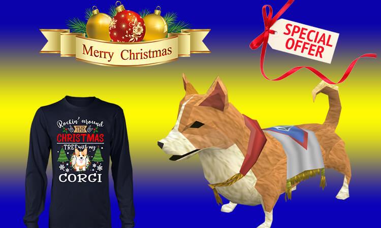 Corgi T-shirts for Christmas