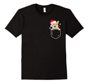 Cute-Corgi-In-Pocket-Christmas-T-Shirt