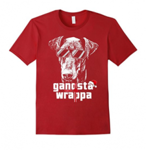 Doberman-Pinscher-Gangsta-Wrapper-Funny-Christmas-Shirt