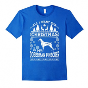 Doberman-Pinscher-for-Christmas-Dog-T-Shirt