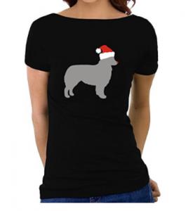 Eddany-Australian-Shepherd-christmas-Women-Boat-Neck-T-Shirt