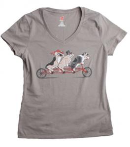Fancy-Welsh-Corgis-Women-s-V-neck-T-shirt