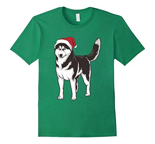 Husky Dog Christmas Hat T-Shirt