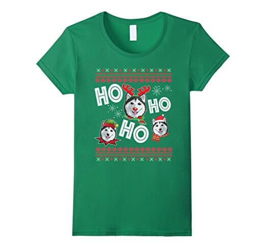Husky T-Shirt Funny Dog Christmas Gift