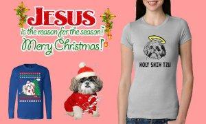 Shih Tzu Christmas t shirt