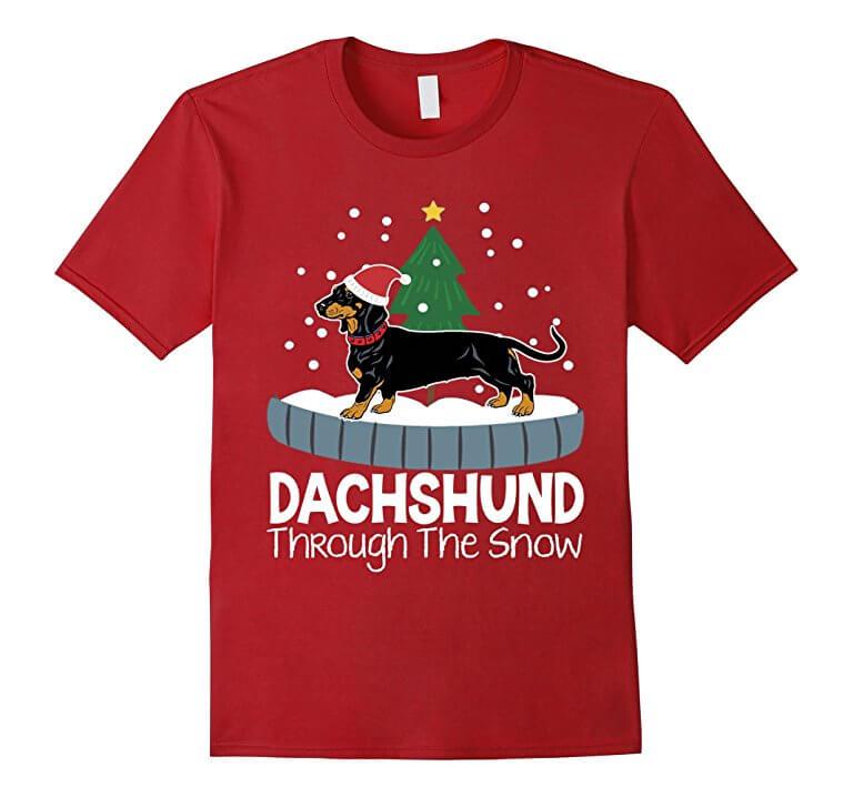 Christmas Weiner Dog T-Shirt