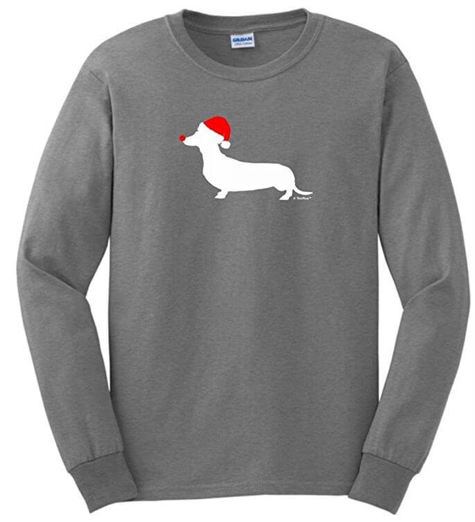 Christmas dacheshund t shirt