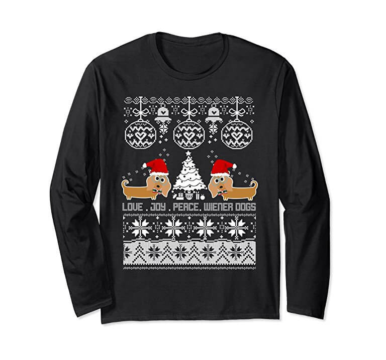Cute Dachshund Christmas Sweater