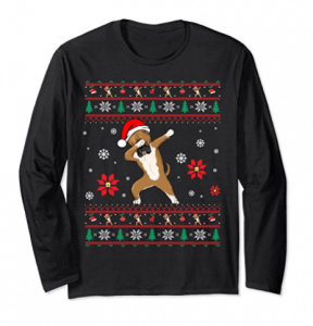 Dabbing-Boxer-Ugly-Christmas-Long-Sleeve-T-Shirt