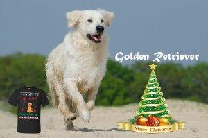 Golden Retriever T-shirts for Christmas