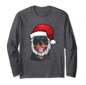 Rottweiler Long Sleeve Funny Santa Christmas Gift Shirt