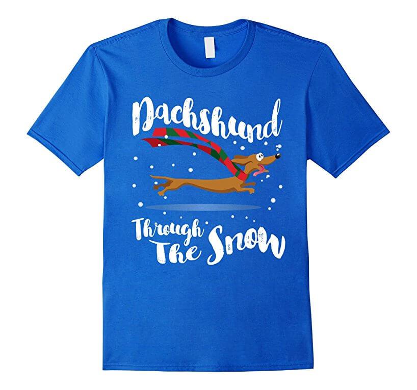 The Snow T-Shirt DACHSHUND
