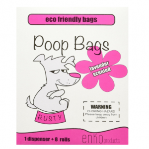 enKo Products Pink Lavender Scented Dog Waste Bags with Dispenser