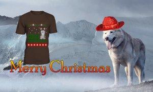 siberian huskie Christmas t-shirts
